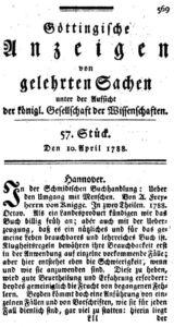 Göttingische Anzeigen vom 10. April 1788