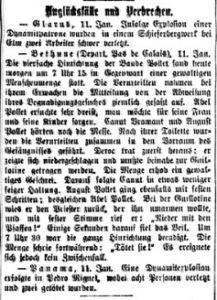 Neue Zürcher Zeitung und schweiz. Handelsblatt vom 11. Januar 1909. Digitale Sammlung Blazek