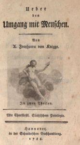 """Originalausgabe von """"Über den Umgang mit Menschen"""", 1788"""
