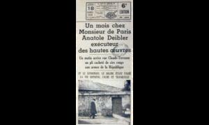 Un mois chez Monsieur de Paris Anatole Deibler exécuteur des hautes œuvres, Ce soir, 18. April 1935. Digitale Sammlung Blazek